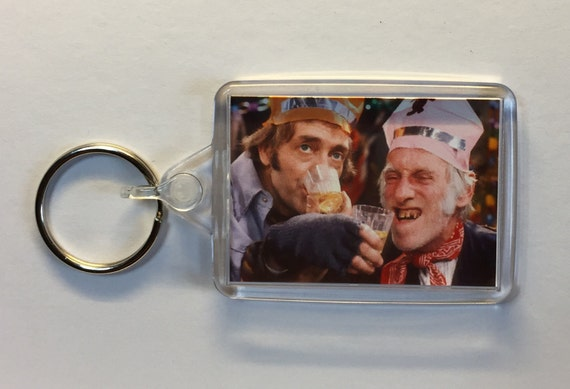 Christmas Movies Steptoe & Son Christmas Special - 1974 Keyring Keychain available in Red Green or Clear connectors