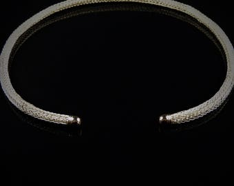 Custom silver plated Torc Neck Ring for jsullas