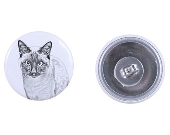 Earrings with a cat - Siamese cat
