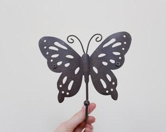 handmade metal butterfly coat hook hanger