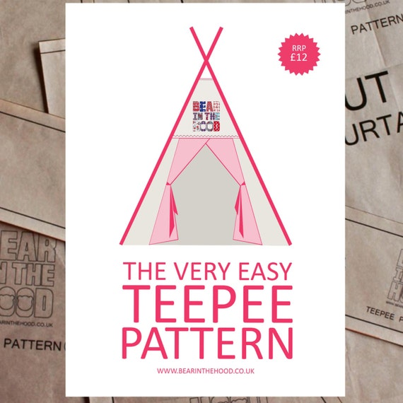 the very easy teepee pattern sew your own teepee paper. Black Bedroom Furniture Sets. Home Design Ideas