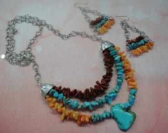 Southwest Necklace - Western Necklace - Boho Necklace - Silver Necklace - Western Jewelry - Chain Necklace - Multi-chain Necklace
