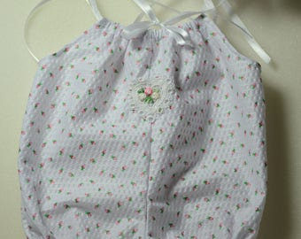 "17-19"" 2 pc romper and muffin hat set for reborn baby dolls"