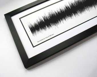Islands In The Stream - Song SoundWave Art - Created From Entire Song