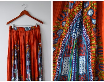 Printed hippie skirt | Fits many