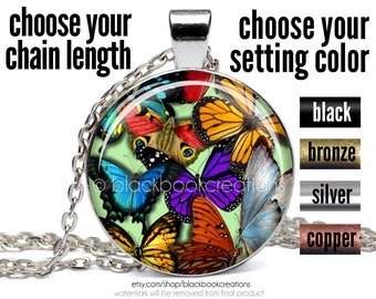 Butterfly Necklace - Spring Pendant - Insect Jewelry - Nature
