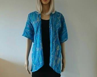 Blue Retro Kimono