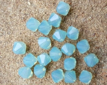 Swarovski 4mm Bicone Faceted Crystal Beads - PACIFIC OPAL x 20 Beads
