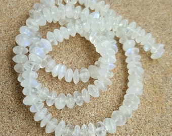 Rainbow Moonstone Beads, 3mm x 5mm Rondelle Beads