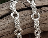 FULLY WELDED Sterling silver Byzantine & Mobius Infinity Knot Bracelet. Unmatched Quality Hand Crafted.