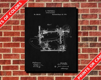 Sewing Machine Poster Sewing Machine Art Design Sewing Machine Print Sewing Machine Blueprint Sewing Room Decor