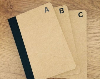 Monogrammed Notebooks - Pocket-sized