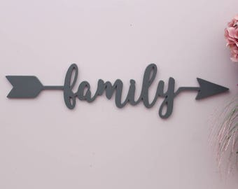 Arrow Word Family Arrow Wood Arrow Words Arrow Word Art Family Sign