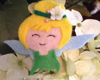 who needs a little pixie queen in their lives, hand made felt girls hair barrette clip