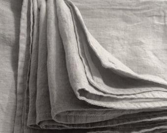 Linen summer cover. Double layer sheet. Natural Belgian linen, stonewashed, soft linen. King size