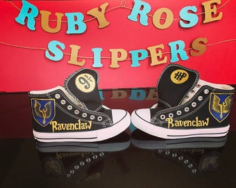 Custom Harry Potter Inspired Ravenclaw hand painted shoes...