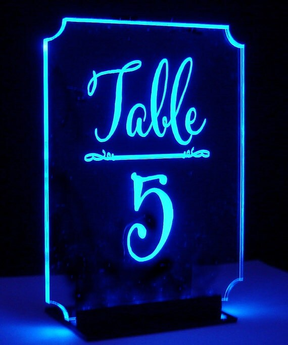 Romance Table Number Lighted Number Glow Illuminated