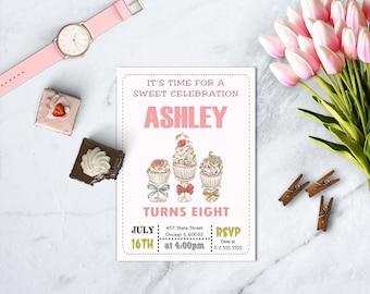 Cupcake War Birthday Invitation, Cupcake Decorating Party, Girl Birthday, Sweet 16th, Baking Party, PRINTABLE