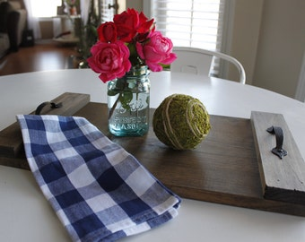 Wood tray - serving tray- stained wood tray- farmhouse decor