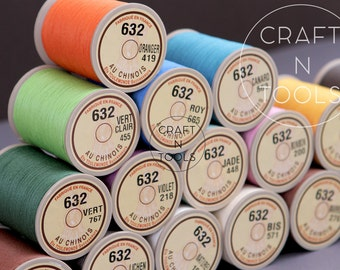 "Sajou Fil au Chinois ""Lin Cable"" Waxed Linen Thread #632 (0.51mm) in 31 colors/Cable Thread/Thread for Leather/Linen Cable/Saddlery Thread"