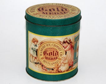 Gold Medal Flour Tin, Washburn, Crosby Company, Minneapolois, Vintage Tin Canister