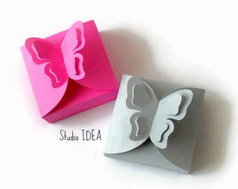 6 Pop out Butterfly Box-Favor Box-Candy Box, Gift Box - Choose  Your Colors -Set of 6pcs DIY