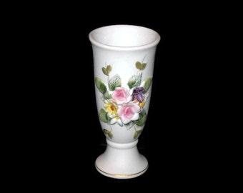 Vintage Lefton, Porcelain Vase, Floral Design, 3D Flowers, Home Decor, Bud Vase, Lefton China, Lefton Floral Vase, Collectible, Home Decor