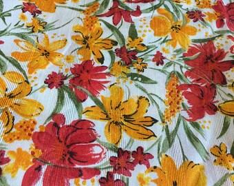 4 meters Floral Fabric,Skirt Fabric, Flower Print Fabric, Indian Fabric, Lehenga Fabric, colourful Fabric,