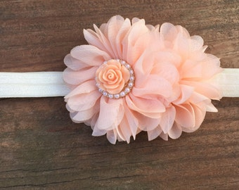 Peach Petals Girls Headband