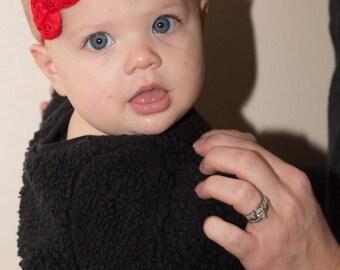 Petite Chiffon Bow Girls Headband or Clip