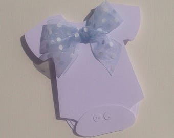 Personalised Onesie Baby Shower Invitations papercut x 20