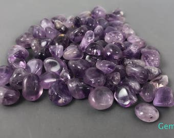Tumbled Amethyst stones-Natural Polished purple Amethyst Polished Amethyst gemstone -High Quality- jewelry making- February birthstone (4oz)