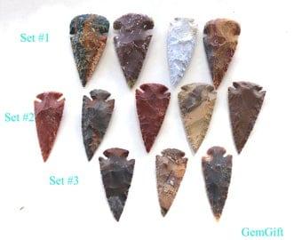 Natural Jasper Arrowhead pendants - Natural gemstone arrowhead pendants - Native American arrowhead - Jewelry making - weapon making
