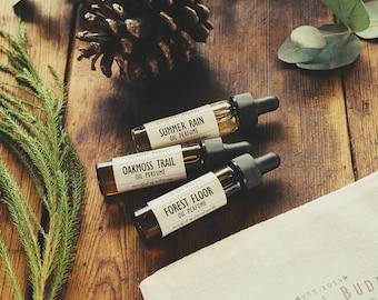 Set of 3 Oil Perfumes | Natural Botanical Scents | Perfume Oil Set