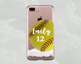 Personalized Softball phone case Custom Softball Case iPhone 8 Plus iPhone 8 Case iPhone 7 iPhone 7 Plus 6 Samsung personalize softball case