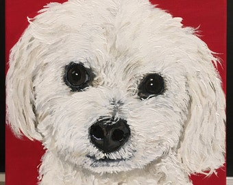 original dog portrait from a photo dog painting from a photo the best pet lover gift a customized painting of my dog custom pet portrait