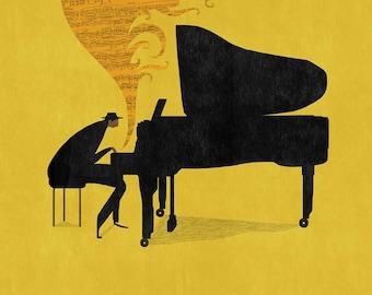 The Pianist - Print - Wall Art