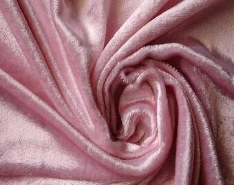 Light Pink Velvet Fabric REMNANTS