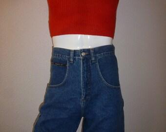 denim shorts size high vtg