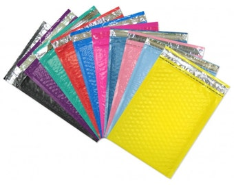 "10.5"" x 15.25"" (5) Large Color Padded Bubble Mailing Shipping Envelopes--CHOOSE COLORS! #5 Approved by USPost Office, FedEx, UPS"