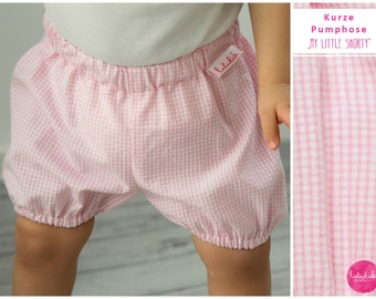 Pink White gingham shorts panties bloomers shorts in Vichy