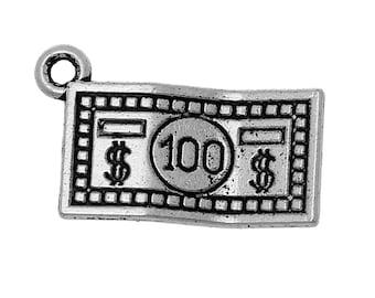 10 Dollar Note Tibetan Silver Charms (482)