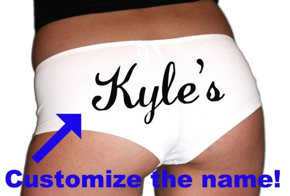 Custom Name Underwear