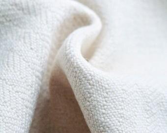 Handwoven wool fabric