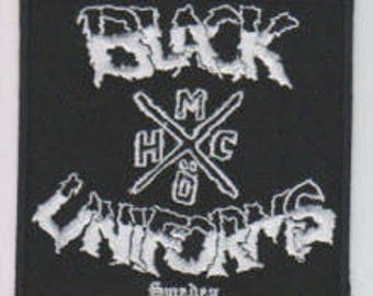 Black Uniform punk hardcore embroidered patch - eye