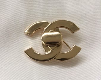 Chanel Turnlock Pin Brooch