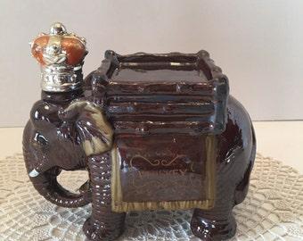 Elephant Whiskey Decanter ~ Japan ~ Redware ~ Retro Barware ~ Scotch ~ Bourbon ~ Liquor ~ Man cave ~ Vintage