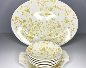 7 piece set of Sheffield China in the Golden Meadow pattern