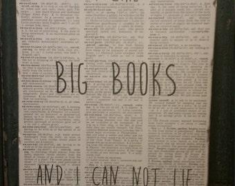 I like Big Books And I can Not Lie Wood Art