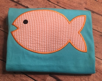 Custom made to order fish shirt